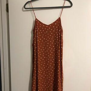 Madewell polka dot midi cami dress